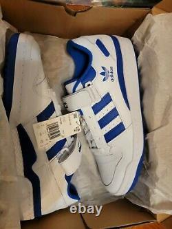 Rare Adidas Originals Forum 84 Low Off White / Royal Blue FY7756 Mens SZ 11.5