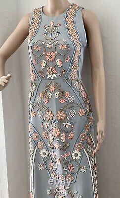 Rare Anthropologie Pankaj and Nidhi Royal Garden Maxi Dress 8 p