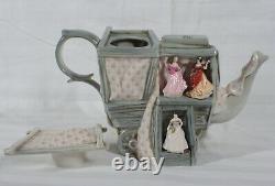 Rare! Cardew Royal Doulton Tiny Pretty Ladies Market Stall Large Teapot New