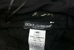 Rare! Dolce & Gabbana Black Floral Lace Dress, US 4, ASO Royal Celebrity
