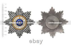 Rare Imperial Award Star Of Order Of St. Olga With Crystal Swarovski Copy #2