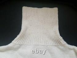Rare Original Issue Royal Navy Submariners Jersey Wool ECRU White Wooly Pully 1