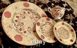 Rare Vintage Abbeydale Imperial English Bone China 26 Piece Dinner Service