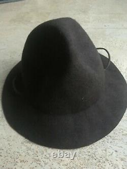 Rare and Awesome! Dsquared2 2015 Royal Canadian Mountie Soft Felt Hat Brown L