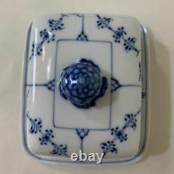 Royal Copenhagen Blue Fluted Butter Case Butter Dish rare
