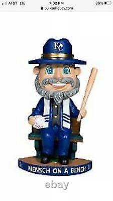 Royals Mensch on a Bench Bobblehead only 408 of them RARE