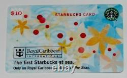 SCARCE Starbucks 2010 ROYAL CARIBBEAN Card SUPER Rare OLD Logo Allure of Seas