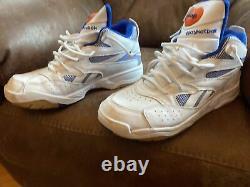 Size 10.5 Reebok Pump Dtime White (Rare color White and Blue with orange pump)