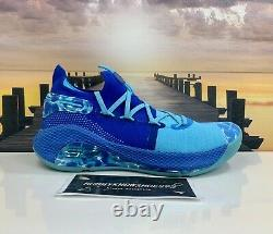 Under Armour Curry 6 Breakthrough Light Blue Royal Blue Limited Rare Size 8.5