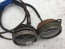 Very Rare Vintage Dash Stewart Warner 2 5/8 1933 Auburn Temp Oil Gauge Scta Trog
