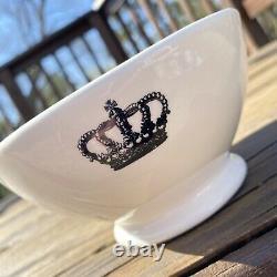 Vintage Rae Dunn Crown Bowls. Have A Royal Day! Magenta Boutique Rare HTF