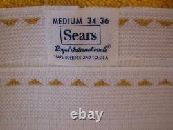 Vintage underwear Sears Royal Internationale rare triangle dash waistband M