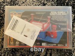 WWF Hasbro Royal Rumble ring Mini Hogan Macho SGT Bossman RARE CAS Q75 Grail
