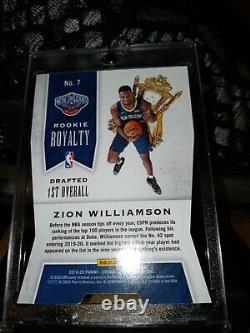 Zion Williamson Crown Royale Rookie Royalty RED Mojo /49 RARE